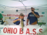 My name is Allex I was 9 years of age when I caught this 3 1/2 pound bass in an Ohio BASS federation tournament, at Rocky Fork.Finished second in tournament [I am on the club of the SS Minnows located in central Ohio]