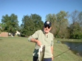 6 lb large mouth with a light spinning rod, 8 lb line and a 7