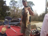 this 12.5 lber was cought in florida. pre spawn 9 foot of water on a old monster
