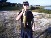 The bass was caught at a private lake it wieghed 5 pounds and 10 ounces I caught the bass at the age of 14 which i will still be until febuary it was caught in polk county florida