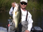 First fish of 2011. 5lbs 5oz Spring Lake, California. BOOYAH jig n' sweet beaver.