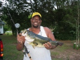 I caught this 7lb 11oz 22 1/2in Bass using a Zebco 11 Mirco Light Reel and Rod on May 14, 2011. The lure was a Strike King Bitsy Minnow 1 1/2 in 1/8oz. I was ending the day fishing for bluegills when she bite my lure. I caught her in a lake north of Crestview, FL.