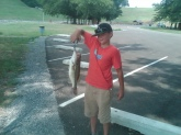 July 15, 2011 Enid Lake Enid, Mississippi ROBERT WALTERS  age 12   5lb Large Mouth Bass Cant believe we threw him back !