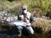 I caught this steelhead in Altmar,NY. I was fishing the salmon river in October. Beautiful fish on a beautiful day.