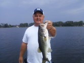 This is a 5lb bass caught on lake Tarpon in FL. Caught it on a Strike King 3/8 oz white spinner bait. 01/26/2012