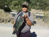 At tingly beach. Catch and release pond off a jerk bait it weighed 8 pounds 23 inches
