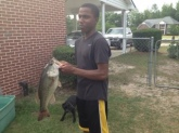 9lb largemouth bass caught out of my Grandpa's pond