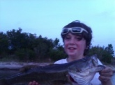 A nice big bass that my little stepbrother caught! She's a beauty, ain't she?