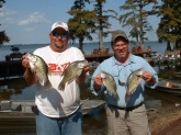 Bill,  Had the pleasure of staying at Blue Bank Resort and fishing the Realfoot Lake. Came down to crappie fish, here's a couple of nice ones, enjoyed my stay. I will be returning again same time next year, first week of October. Also took a mess of cat fish from shore, it was like fishing for blue gills.   Don