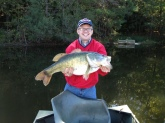 Bass caught on October, 20, 2012, in Jackson, Alabama, by Nick Hughes, weighing 12 ibs, 10 ounces, in a private lake using an artificial crank bait.