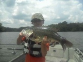my son zack, 10 years old, w/ crankbait 9.6 lb'er just south of tupelo. can't tell him nuthin now!!