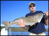 Redfish caught in the ICW Mantanzas River...St Augustine Florida near Devils Elbow. I was using live Mud Minnows with a 1/0 Circle Hook weighted with 2 #5 Split Shot. The fish weighed 9LBS-length was 30