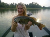 3 1/2 lb Small Mouth Bass Cumberland River last cast of the day