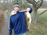 Caught on a football jig with craw trailer in Millville NJ pre-spawn. Thank you Bill for all the great tips over the years and keep 'em coming. I never miss a show!