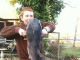 This my son Cole Miller from Tennesse.His first big Catfish caught on 1-26-13.32 pounds!!!