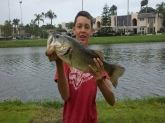 10 pounder in my back yard!Caught on a 7 inch red shad worm.In seminole,Florida.