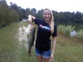 I caught this bass in Fuquay NC and it weighted 9 pounds even.