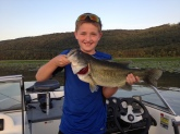 6lb Largemouth caught on Lake Guntersville with a Rebel pop-r.