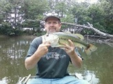 Farm pond fishing is great. 5 lb bass.