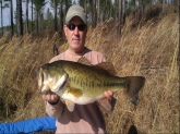 Mike Manville caught and released this 12 pounder on January 11, 2014 in a private lake in St. Clair Co. Alabama.  The bass was caught on the smallest Shad Rap made.