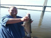 Mississippi River it weighed 7lbs caught it on stink bait