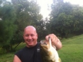 i caught this 6.9 lbs girl on a top water popper. privet lake in Ga.  bassmaster dreamer