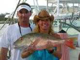 Caught this nice mutton while jigging over a reef in Lucaya, Grand Bahama.
