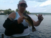 Just six weeks after shoulder surgery, caught it on a jig.