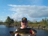 A nice Florida bass caught in the Glades with Guide Billybob Crosno RIP 4lbr  Thanks billy Bob  for the memories