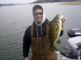 February, 2014 Norris Lake,Tn. Water temp. 42 degrees, 5 pounder, gulp minnow.