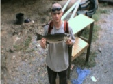 summer of 2002,nice little 4.3 pound bass.strip pit in du quion illinois..