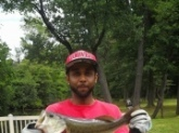 large mouth bass caught in Kenny park Hartford Connecticut
