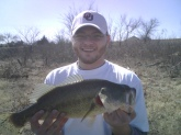 Farm pond Oklahoma it weighed 5 pounds caught off frog in early February