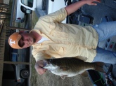 6lb 6oz smallmouth bass, Fort Loudon (TN river) caught on a YUM Dinger 20' of water 23