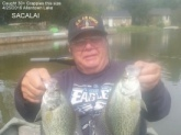 Here is a picture of my fishing buddy Ray holding 2 of the 30 plus Crappies this size that we caught a few days ago. These are very big Crappies for this part of NJ.We had a banner day catching Crappies, Pickerel, Bluegill and Golden Shiners.Fun-Fun-Fun BigFran-BassHunter Thake you granchild fishing!!!