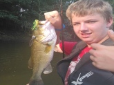 Caught this 4lbs. Bass out of my pond