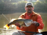 Caught on October 17, 2008 at approximately 9:45 AM on 4 lb Suffix Elite spooled on a Mitchell Avocet S1000T/5'6