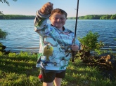 My sons first fish he ever caught on his own. May not be a trophy but I couldn%u2019t be prouder