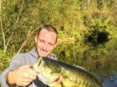 This is my brother Keith he caught this on a lizard in a private north east ohio stripper cut. Right around 10.2lbs