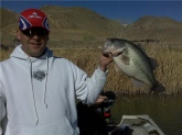 Caught this 8.8 lbs bass at Diaz lake in Lone Pine CA two weeks ago.I found my new favorite hole for early fishing.