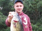 I caught this 8.9 lb smallmouth bass at nickajack lake in Tennessee on 4-5-09 it was 24