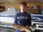 This walleye  was caught on lake poygan Wi..Weighed 3lbs and was 26 inches long.