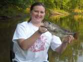 Caught on the Savannah River (South Carolina) on 5/12/08 - I think it weighed around 1 1/2 lbs