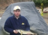 I caught this fish in West Virginia where i Live on the big coal river . It was 24 inches it weighed about 2 pounds.
