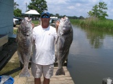 Caughtby Capt. Lynn Pridgen in Mobile Bay while sight fishing for redfish both were over 30 lbs