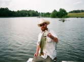 Gorilla Bass at Triple D Ranch in Emelle, AL. Caught on green Zallamander with chartreuse tail.