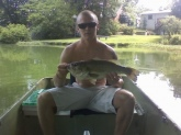 Right at 6 1/2 pounds. Private pond in Hampton Roads, VA. Caught on 5 inch green w/ flake senko.