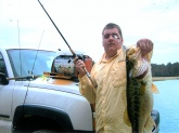 12lb bass caught on booyah buss bait