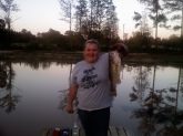 i caught this fish in my pond.she is about 4 pounds and 21inches long