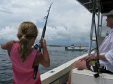 Savanna Miller Hooked a nice Jack in the St Lucie inlet in Stuart Florida. 7/28/09